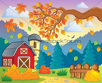 Autumn theme landscape 1
