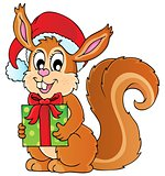 Christmas theme squirrel image 1