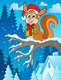 Christmas theme squirrel image 2