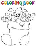 Coloring book image Christmas 1