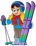 Skiing theme image 1