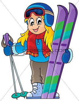 Skiing theme image 1