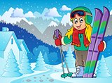 Skiing theme image 2