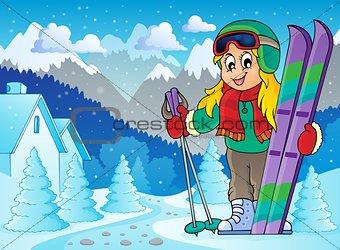 Skiing theme image 2