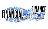 financial text cloud