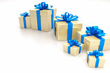 gift boxes blue