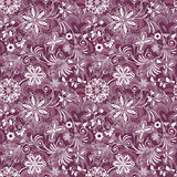 Seamless purple-white vintage pattern