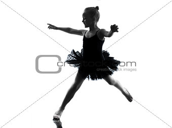 one little girl ballerina ballet dancer dancing silhouette
