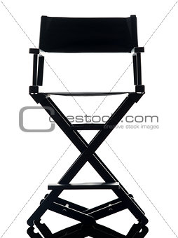 one director chair  silhouette