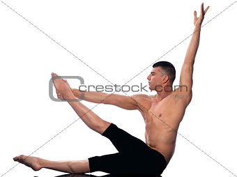 Man gymnastic  stretching posture