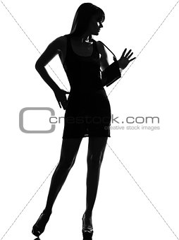 stylish silhouette woman full length