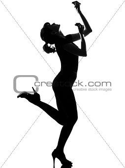 silhouette woman dancing flamenco