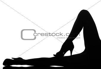 silhouette woman legs