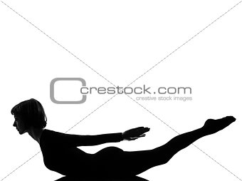 salabhasana Locust Pose yoga grasshopper woman