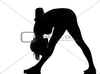 woman parsvottanasana Intense Side Stretch Yoga pose woman