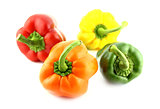 Group of colorful sweet bell pepper