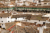 View on Plaza Mayor in  Chinchon, Madrid,Spain