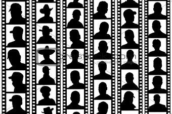 background portraits film strips