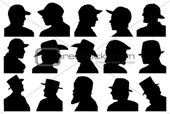 portraits with hat profile