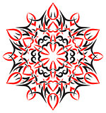 tribal ornament in the shape of snowflakes