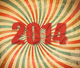 2014 Happy New Year retro background. Vector.