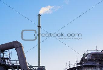 Factory summer sky