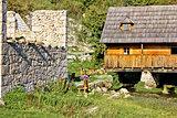 Old church ruins & watermill on Gacka
