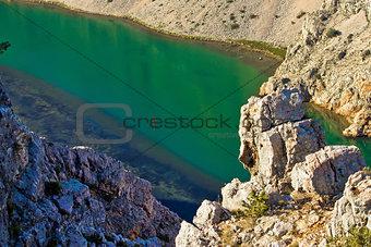 Green Zrmanja river in canyon
