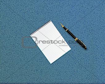 blank opened notebook