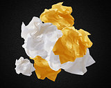 Crumpled papers