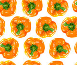 Seamless orange bell pepper
