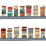 Cartoon houses illustration