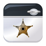 Police car door app icon