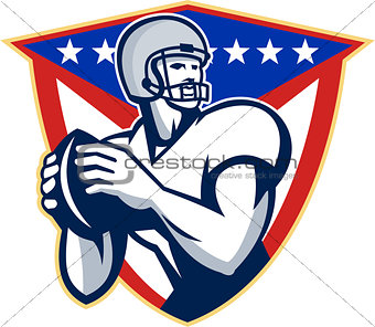 American Football Quarterback Throw Ball