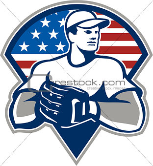 American Baseball Pitcher Gloves Retro