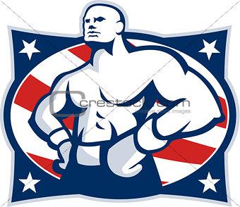 Champion American Boxer Akimbo Retro