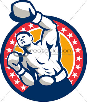 Boxer Boxing Punching Jabbing Retro