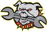 Bulldog Dog Spanner Head Mascot