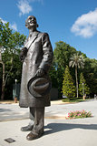 Monument to Anibal Gonzalez in the Maria Luisa Park in Seville,