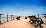 Victorian era pier at English seaside resort