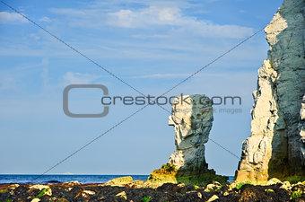 Old Harry Rocks Jurassic Coast UNESCO Dorset England at low tide