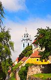 Belfry of church Maria Himmelfahrt, Durnstein, Austria