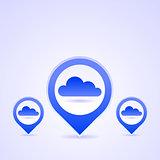 Blue Cloud Icon Set