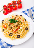 Pasta with chicken brest