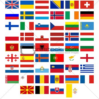 Flags of the countries of Europe