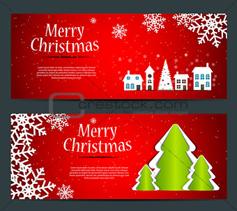 Abstract beauty Christmas and New Year banner. vector illustrati