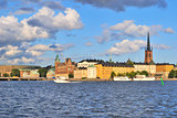 Stockholm. Island Riddarholmen  at sunset