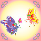 Butterflies romantic pair