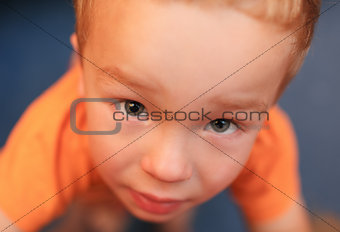 Portrait of cute 3 year-old boy