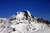 Mount Kazbek at nice winter day